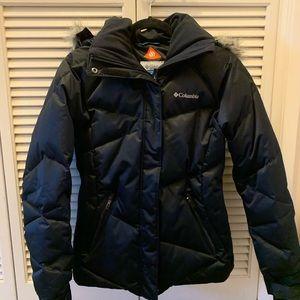Columbia Puffer Jacket Fur Hood